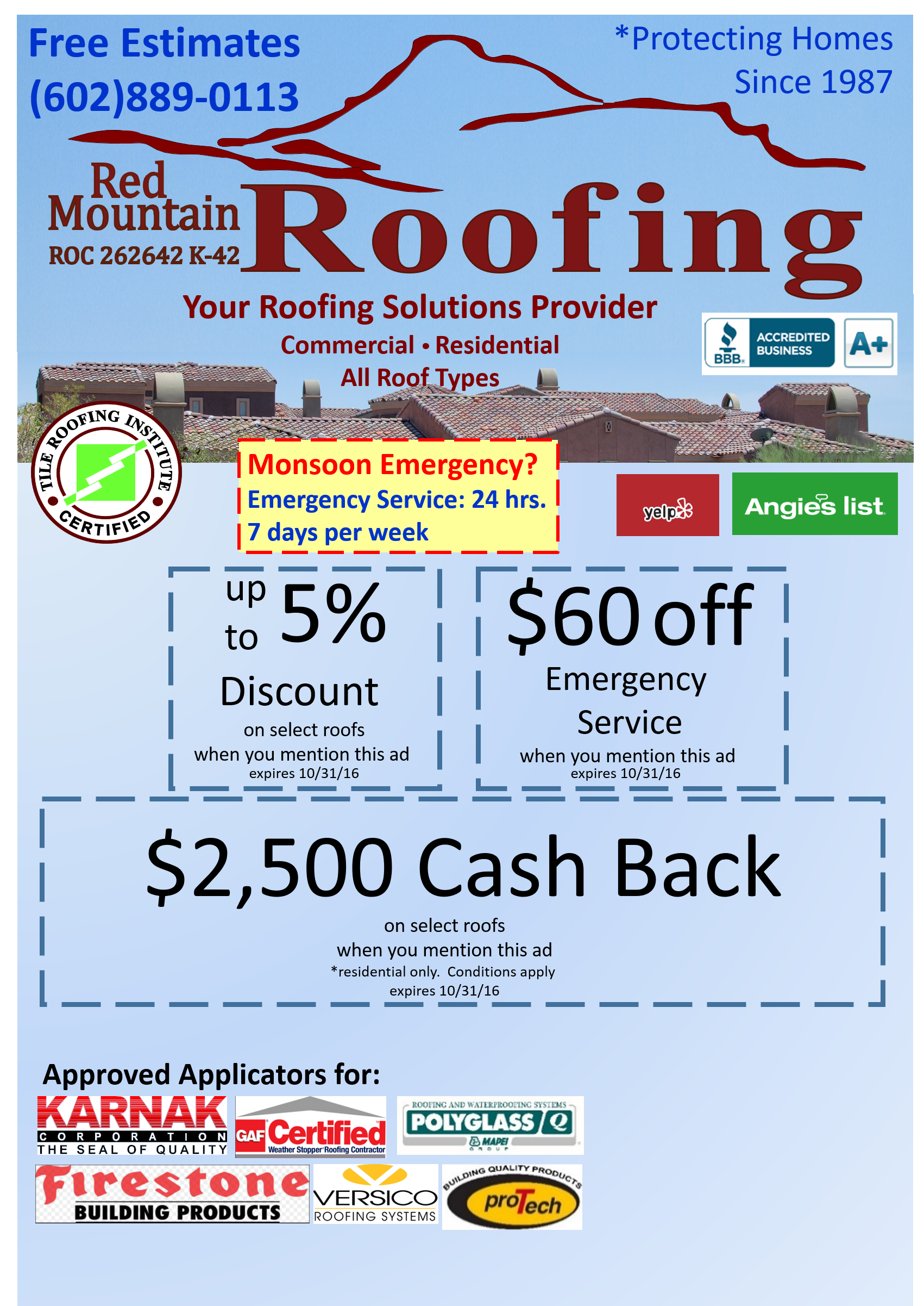 discount on roof